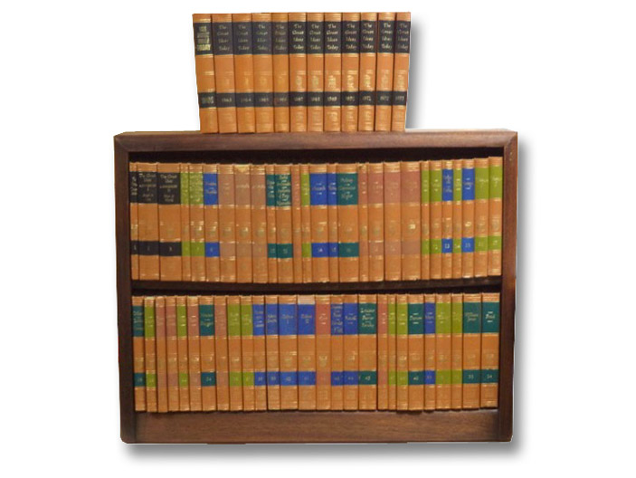 54-Volume Great Books of the Western World Set, Complete with Custom Bookcase and Continuous 12 Volume Run of The Great Ideas Today Annual (1962-1973), Hutchins, Robert Maynard; Adler, Mortimer; et al