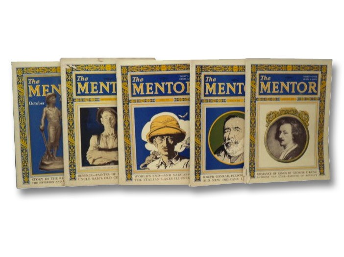The Mentor: January 1925 (Serial No. 263), March 1925 (Serial No. 265), April 1925 (Serial No. 266), September 1925 (Serial No. 271), October 1925 (Serial No. 272) (5-Volume Set)