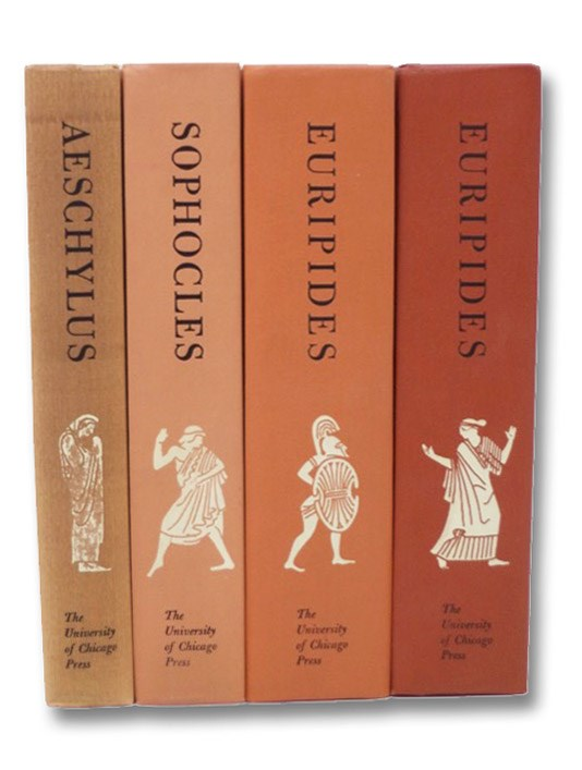 The Complete Greek Tragedies, in Four Volumes: Aeschylus; Sophocles; Euripides (2 Vols.), Grene, David; Lattimore, Richmond; Benardete, Seth G.; Fitzgerald, Robert; Wyckoff, Elizabeth; Moore, John; Jameson, Michael; Warner, Rex; Gladstone, Ralph; Arrowsmith, William; Bynner, Witter; Nims, John Frederick; Willetts, Ronald Frederick; Jones, Fra