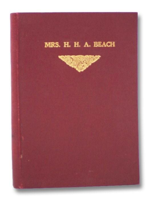 Mrs. H.H.A. Beach, Schmidt, Arthur P.