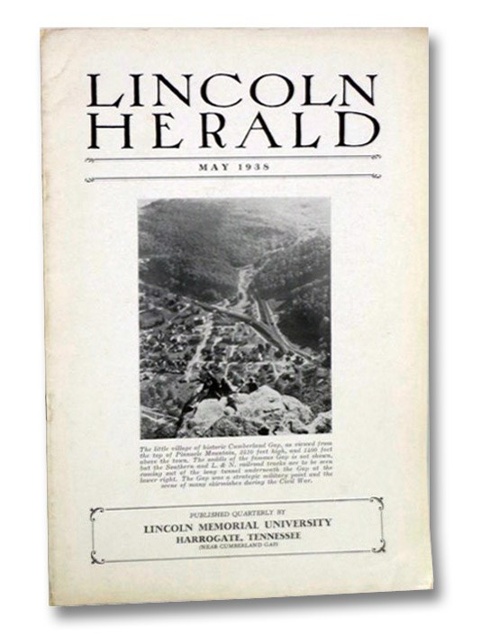 Lincoln Herald, May 1938, Vol. XL, No. 3