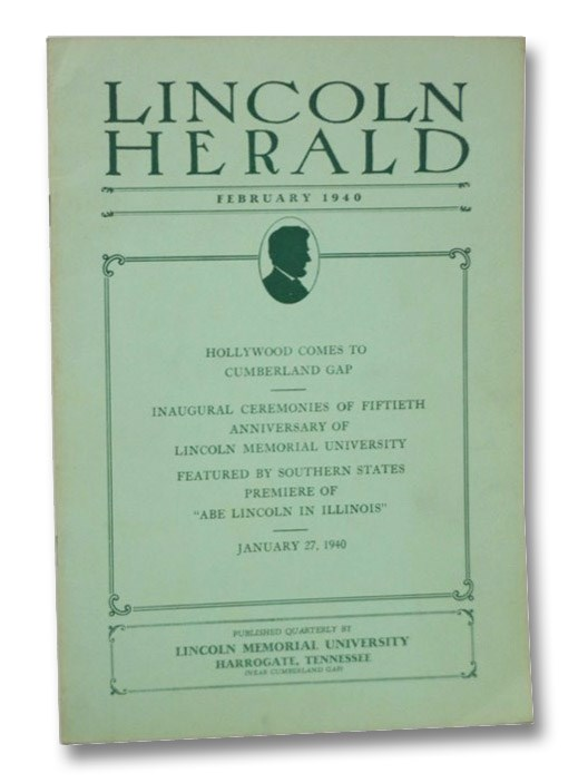 Lincoln Herald, February 1940, Vol. XLII, No. 2