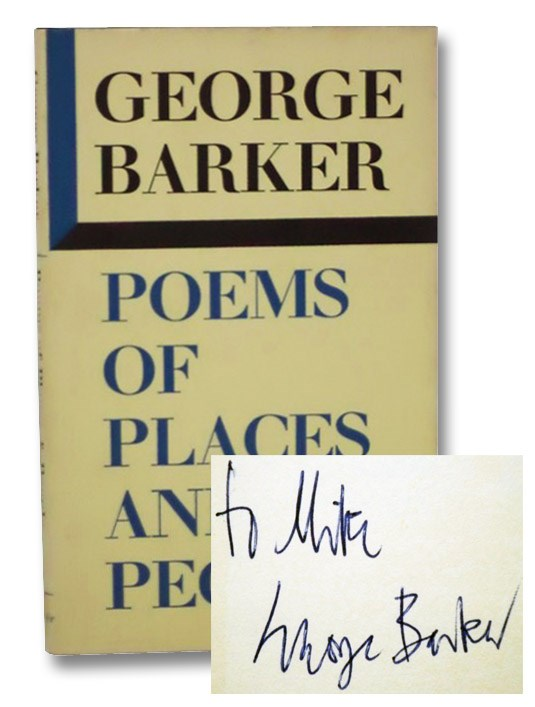Poems of Places and People, Barker, George