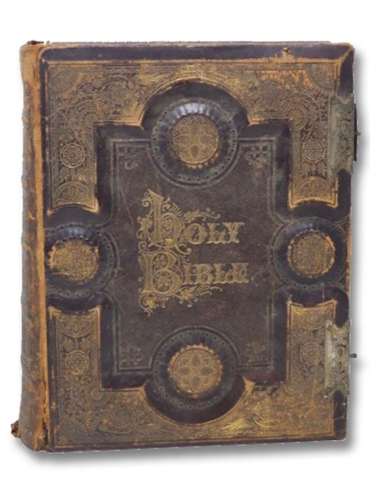 The Self-Interpreting Holy Bible, Containing the Old and New Testaments, together with the Apocrypha, Concordance and Marginal References, Conformable to the Standard of the American Bible Society, with an Introduction; Illustrations; a Summary of the Several Books; an Analysis of Each Chapter; a Paraphrase and Evangelical Reflections upon the Most Important Passages; and Numerous Explanatory Notes; and the Text More Fully Elucidated by Many Thousand Explanatory and Critical Notes, and Introduction Observations on Each Book; also a Complete Dictionary of the Holy Bible, Including All Important Words, Illustrated by More Than Six Hundred Fine Engravings and Many Maps. [New Illustrated Edition of Brown's Self-Interpreting Family Bible (with) Watts' Psalms of David in Metre (with) An Introduction to the Right Understanding of the Word of God (with) Introduction to the Study of the Bible (with) An Illuminated Marriage Certificate. An Illuminated Lord's Prayer; also an Illuminated Ten Commandments. a Register of Marriages, Birthds, Deaths, and Memoranda. A Photographic Album with Sixteen Openings for Portraits], Brown, John; Cooke, Henry; Rawson, A.L. (Albert Leighton)