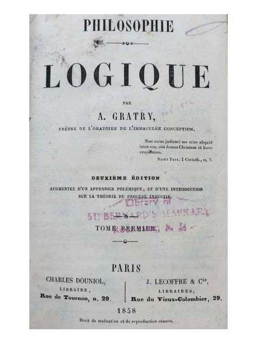 Image for Philosophie Logique, 2 volumes in 1 [Logical Philosophy] [FRENCH TEXT]
