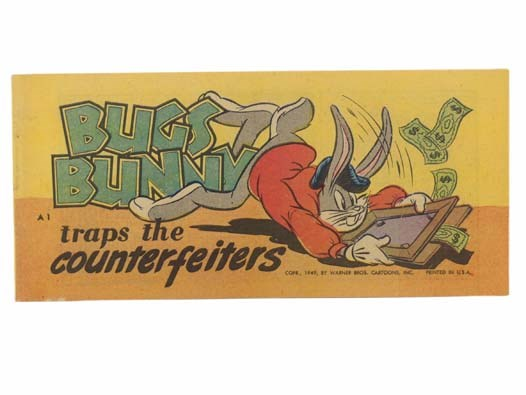 Image for Bugs Bunny Traps the Counterfeiters (Warner Bros. Cartoons, Bugs Bunny Comic Books A1)