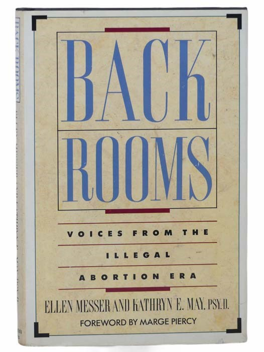 Image for Back Rooms: Voices from the Illegal Abortion Era