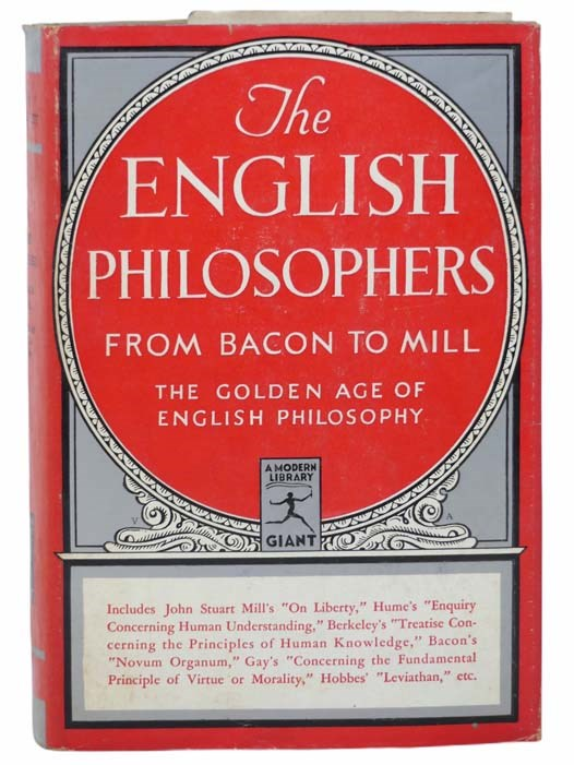 Image for The English Philosophers from Bacon to Mill (The Modern Library of the World's Best Books, Giant G 47)