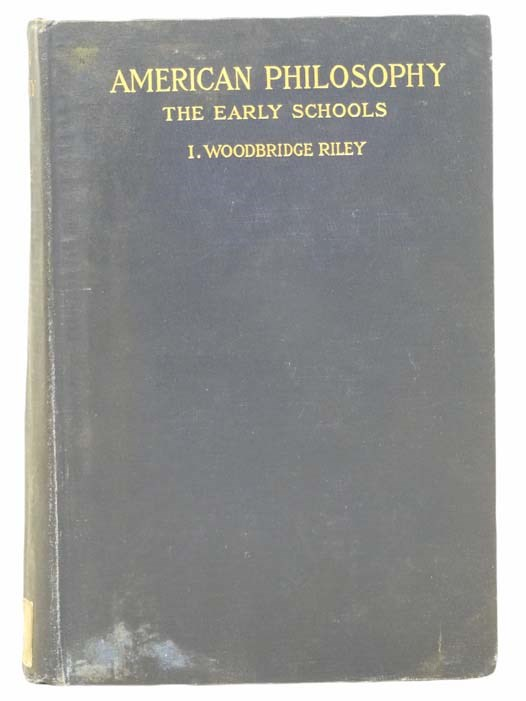 Image for American Philosophy: The Early Schools