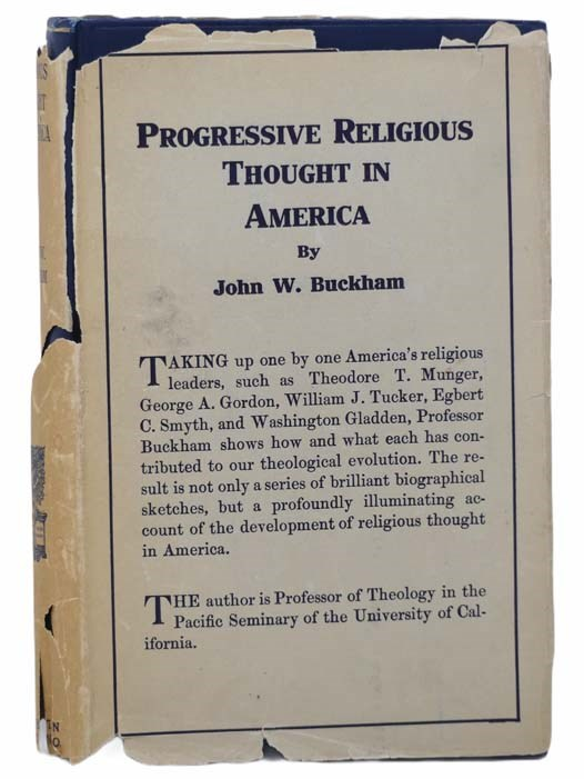 Image for Progressive Religious Thought in America: A Survey of the Enlarging Pilgrim Faith