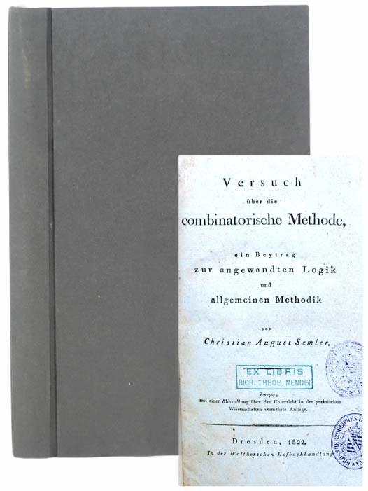 Image for Versuch uber die combinatorische Methode, ein Beytrag zur angewandten Logik und allgemeinen Methodik