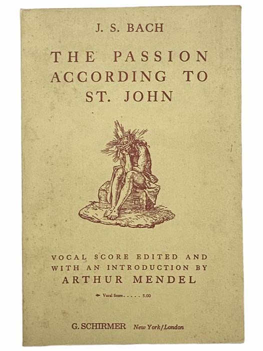 Image for The Passion According to St. John: Vocal Score