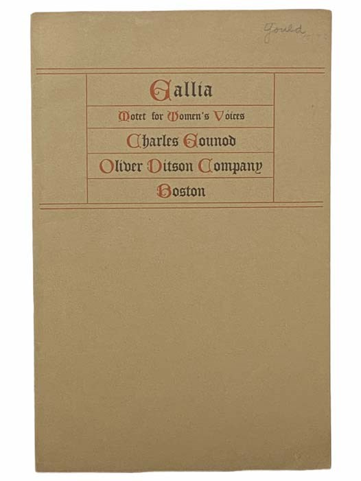 Image for Gallia: Motet with Piano Accompaniment, Arranged for Women's Voices