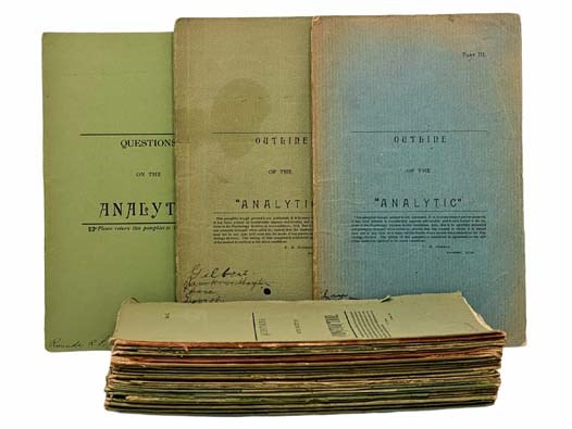 Image for Amherst Papers in Philosophy: A Collection of 29 Pamphlets in Printed Wrappers: Questions on the Analytic.; Outline of the Analytic. (Part II.); Outline of the Analytic. (Part III.); Discussions by the Metaphysical Society.; Printed as Private Manuscript. (Analytic Part IV); Printed as Private Manuscript; Printed as Private Manuscript (II); Outline of Hume's Philosophy.; Printed as Private Manuscript (Hume II); Some Products of the Higher Susceptibility.; Questions on the Susceptibility.; Printed as Private Manuscript (Susceptibility I.); Printed as Private Manuscript (Susceptibility II.); Notes on Authority. (No. 1.); Printed as Private Manuscript (Authority Part III.); Notes on Obligation.; Printed as Private Manuscript (Space); Printed as Private Manuscript (Physical Law); Printed as Private Manuscript (Interaction.); Notes on Huxley.; Questions on Philosophy.; Notes on Relation.; Notes on Descartes.; Printed as Private Manuscript (Abstraction.); Questions on the Reason. (No. 1.); Questions on the Faculty of Construction. (Part I.); Questions on the Faculty of Construction. (Part II.); Questions on the Faculty of Construction. (Part III.).