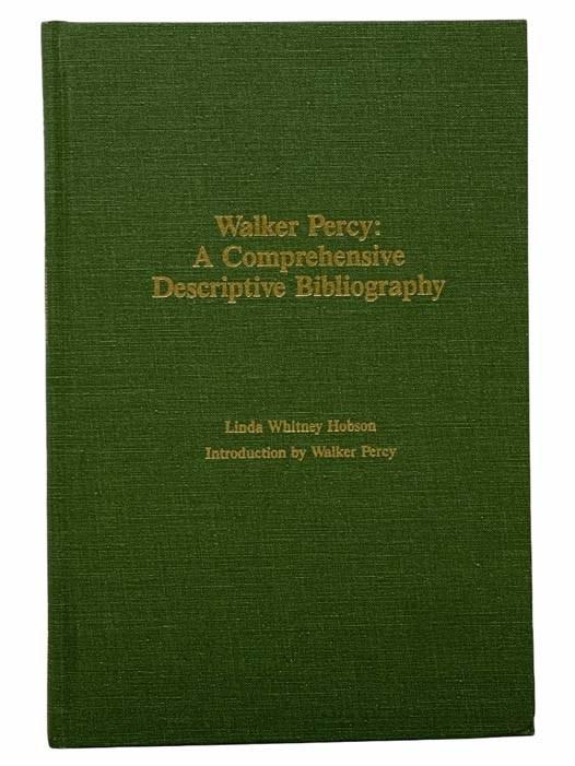 Image for Walker Percy: A Comprehensive Descriptive Bibliography