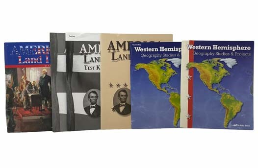 Image for America, Land I Love 6-Volume Classroom Set: 8th Grade History/Geography Curriculum (America, Land I Love Textbook; Tests; Test Key; Answer Key to Text Questions; Western Hemisphere: Geography Studies & Projects; Western Hemisphere: Geography Studies & Projects Teacher Key)
