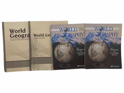 Image for World Geography in Christian Perspective with Political and Cultural Profiles 4-Volume Set: Abeka 9th Grade World History Curriculum (World Geography in Christian Perspective with Political and Cultural Profiles Textbook; Teacher Guide; World Geography Home Teacher Manual; Video Manual)