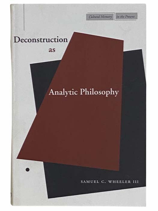 Image for Deconstruction as Analytic Philosophy (Cultural Memory in the Present)