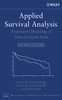 Applied Survival Analysis: Regression Modeling ofTime to Event Data, Second Edition