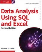 Data Analysis Using SQL and Excel, 2nd Edition
