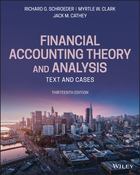 Financial Accounting Theory and Analysis: Text and Cases, 13th Edition