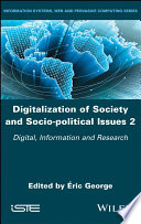 Digitalization of Society and Socio-politicalIssues 2 - Digital, Information and Research