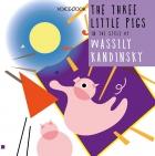 Three Little Pigs in the style of Vasily Kandinsky
