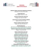 2020/2021 ACS/CBE Show Schedule