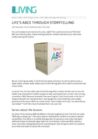 Life's ABCs through storytelling