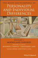 The Wiley Encyclopedia of Personality andIndividual Differences, Volume 1