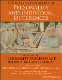 The Wiley Encyclopedia of Personality andIndividual Differences, Volume 3