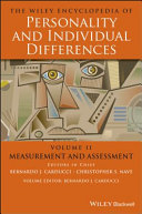 The Wiley Encyclopedia of Personality andIndividual Differences, Volume 2