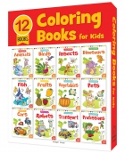 Colouring Books for kids (Pack of 12 Books)