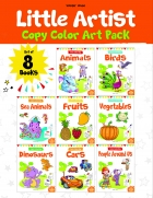 Little Artist Copy Colouring pack(Set of 8 books)