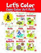Let's Colour Copy Colouring pack(Set of 8 books)