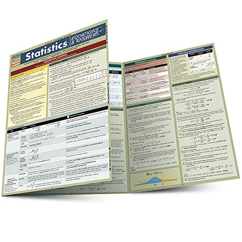 STATISTICS EQUATIONS & ANSWERS LAMINATED STUDY GUIDE