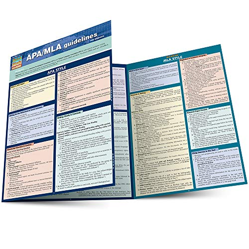 APA/MLA GUIDELINES FOR STUDENTS LAMINATED STUDY GUIDE