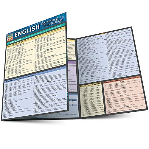 ENGLISH: GRAMMAR & PUNCTUATION LAMINATED STUDY GUIDE