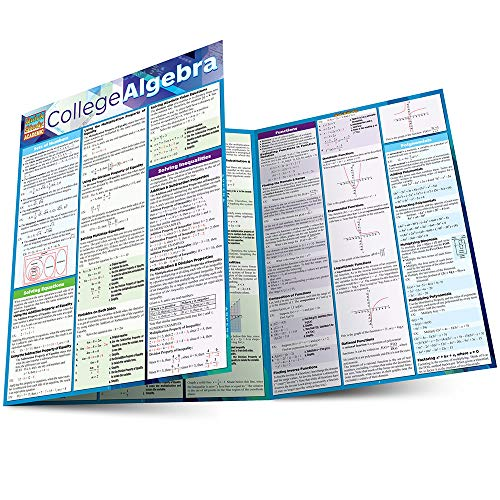 COLLEGE ALGEBRA LAMINATED STUDY GUIDE