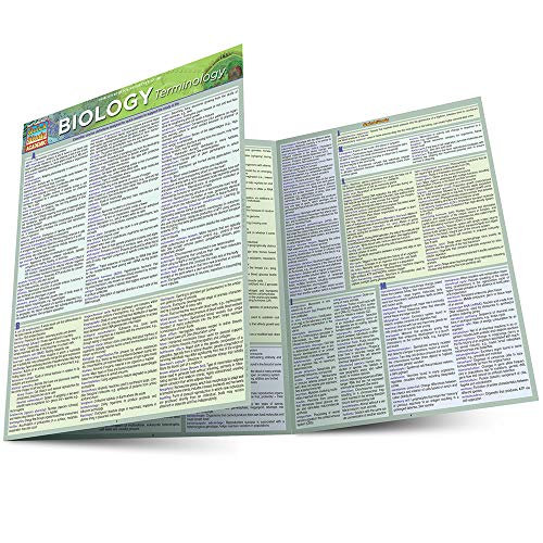BIOLOGY TERMINOLOGY LAMINATED STUDY GUIDE
