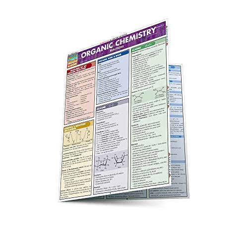 ORGANIC CHEMISTRY REACTIONS LAMINATED STUDY GUIDE