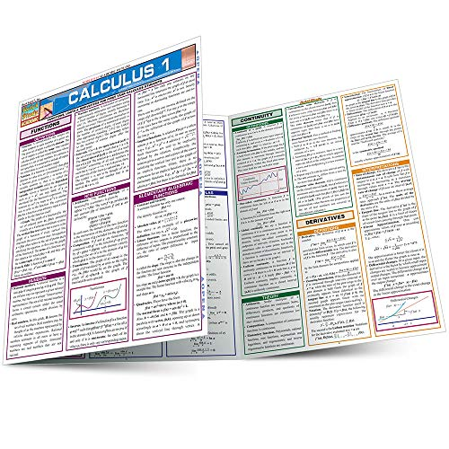 CALCULUS 1 LAMINATED STUDY GUIDE