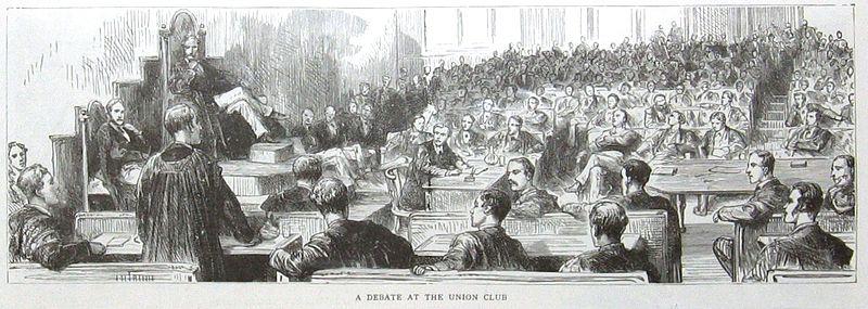 A Debate at the Union Club, c.1887, [Public Domain] via Wikimedia Commons