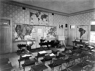Universal Exhibition of Vienna, 1873: American Rural School, Library of Congress [Public Domain] via Wikimedia Commons