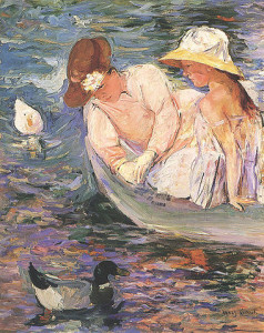 "Mary Cassatt, ""Summertime,"" c. 1894 [Public Domain] via Wikimedia Commons"