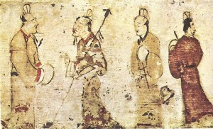 Two Gentleman in Conversation, Eastern Han Dynasty (25-220) AD, Museum of Fine Arts, Boston [Public Domain] via Wikimedia Commons