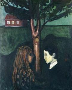 Edvard Munch, Eye-in-Eye, 1894, Munch Museum, Oslo, [Public Domain] via Wikiart