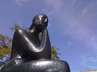 A Woman Thinking, 2007, [Public Domain] via Wikimedia Commons