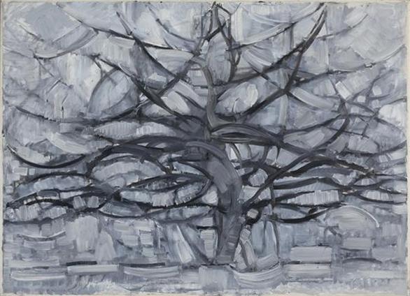 Piet Mondrian, Gray Tree, 1911, Gemeentemuseum Den Haag, The Hague, [Public Domain] via Wikimedia Commons
