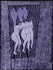 Judith Weinshall Liberman, Women in the Holocaust, 1996, Center for Holocaust and Genocide Studies: Judith Liberman Art Works, University of Minnesota.